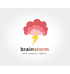 Abstract brain logo icon concept Logotype template vector image