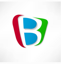 Abstract icon based on the letter b vector