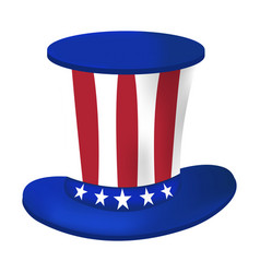 american hat icon happy 4 th july and vector image