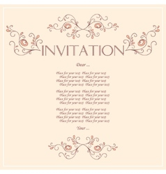 Beautiful Invitation card with pattern of peacock vector
