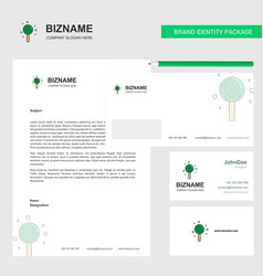 Candy business letterhead envelope and visiting vector