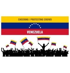 Cheering or Protesting Crowd Venezuela vector image