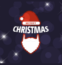 christmas card with dark background vector image