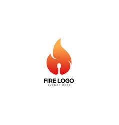 Creative fire logo design vector