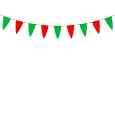 Decorative flags on greeting card template for a vector image vector image