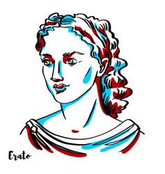 erato portrait vector image