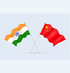 flag china and india together a symbol of vector image