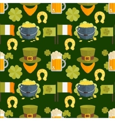 flat seamless pattern for StPatricks day vector image