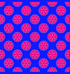 floral pattern on the blue background vector image