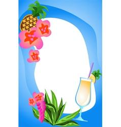 fruit cocktails vector image