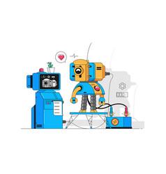 Funny medical robot vector