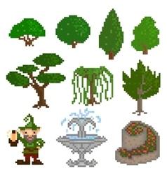Garden pixelart vector image