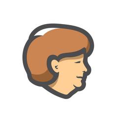 German lady head icon cartoon vector