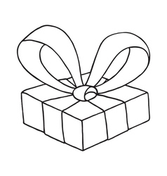 Gift box icon on a white background vector image
