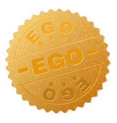 Gold ego award stamp vector