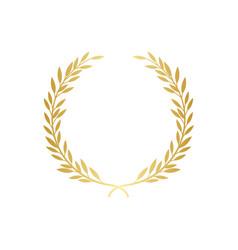 golden laurel or olive greek wreath vector image