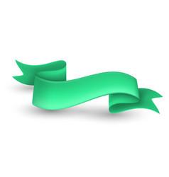 green ribbon banner vector image