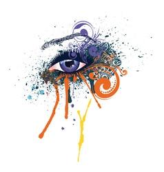 Grunge Fashion Eye vector