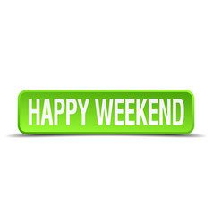 Happy weekend vector