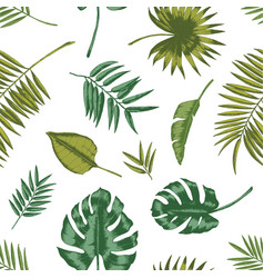 hawaiian seamless pattern with tropical foliage on vector image