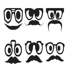 Hipster smiley set3 resize vector