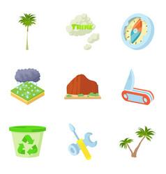 Hurricane icons set cartoon style vector