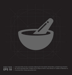 icon of bowl and chopsticks vector image