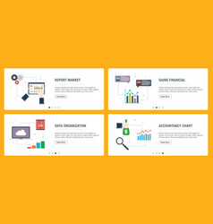 internet banner set report accountancy and vector image