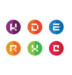 K d e r x c initial logo design random set vector