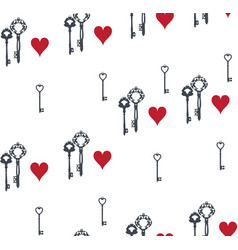 keys and hearts vector image