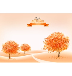 Landscape autumn background vector