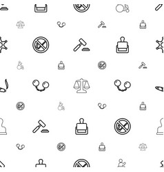 Law icons pattern seamless white background vector