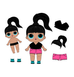 lol dolls print vector image