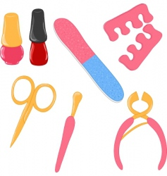 manicure icons vector image