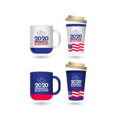 Mockup vote presidential election 2020 united vector