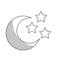 Moon and stars icon vector