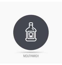 Mouthwash icon oral antibacterial liquid sign vector
