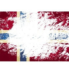 Norwegian flag Grunge background vector image
