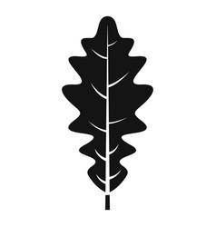 oak leaf icon simple style vector image
