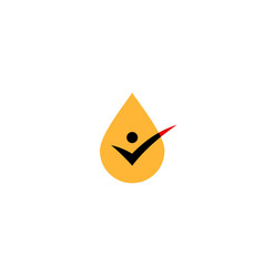 oil drop check logo icon vector image