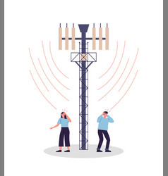 People in danger 5g tower radiation wave vector