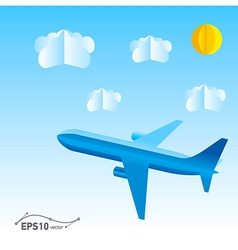 plane origami 3d paper vector image
