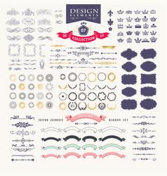 premium design elements great for retro vintage vector image