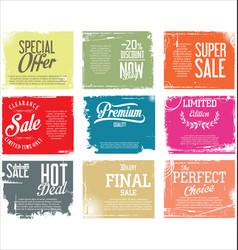 premium quality retro vintage grunge labels vector image