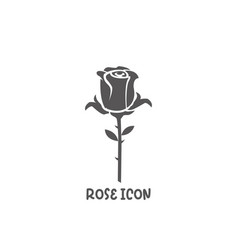 rose icon simple flat style vector image