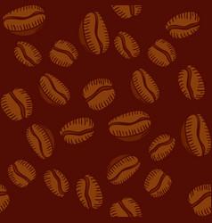 Seamless pattern arabica coffee beans vector
