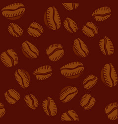 seamless pattern of arabica coffee beans vector image