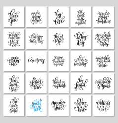 set of 25 hand lettering wedding invitation and vector image
