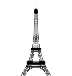 Silhouette eiffel tower vector