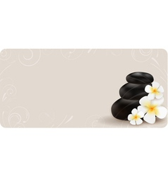 Spa swirl background vector